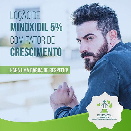 Loção Para Barba - Minoxidil 5% Com Fator de Crescimento