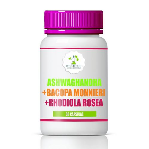 Ashwagandha + Bacopa Monnieri +  Rhodiola Rosea