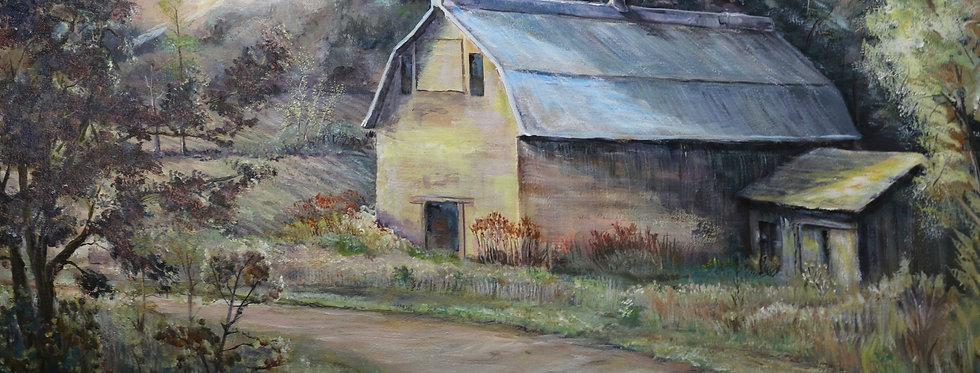 """""""South on Rt.26"""" 34""""x28"""" on canvass."""