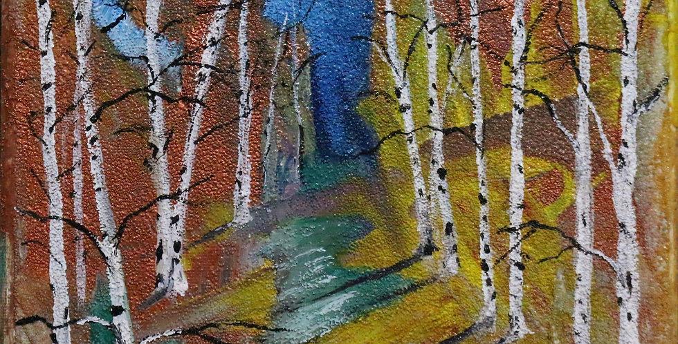 """""""Birches"""" 8x8"""