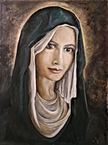 """Portrait Commission: """"Mother Mary"""""""