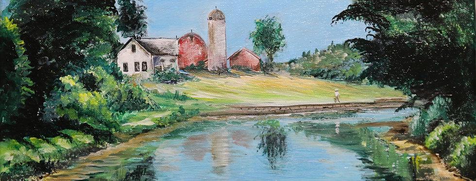 """Camillus Erie Canal Park""  11x14 acrylic painting"