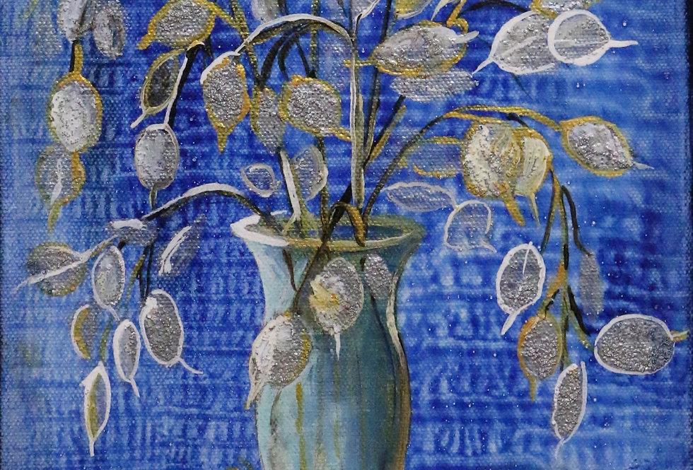 """""""Vase in Blue"""" 10x8"""