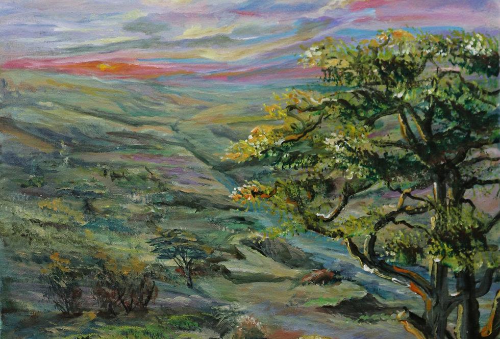 """Mara River"" 14""x18"" Acrylic on Canvass"