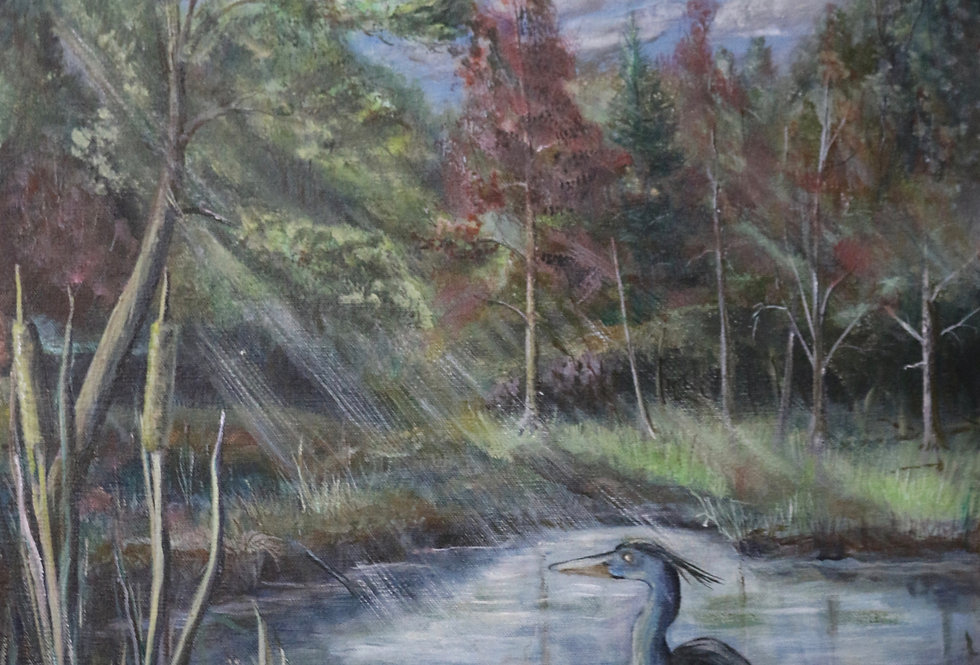 """Spring Brook"" 18""x24"" acrylics or oils on canvass."
