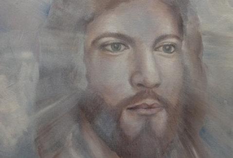 """""""Emmanuel"""" 16""""x20""""  acrylics on canvass."""
