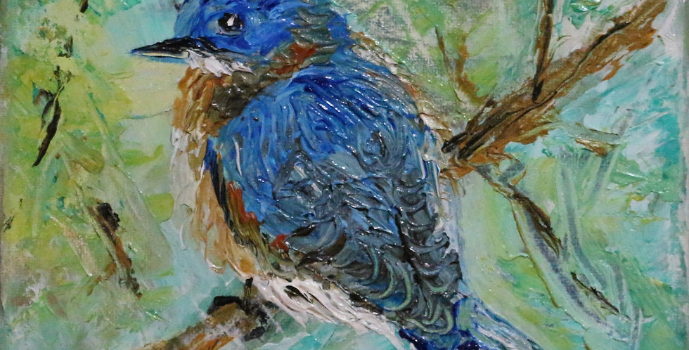 """Blue Bird"" 8x8"