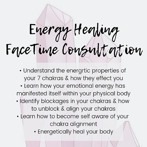 Energy Healing FaceTime Consultation