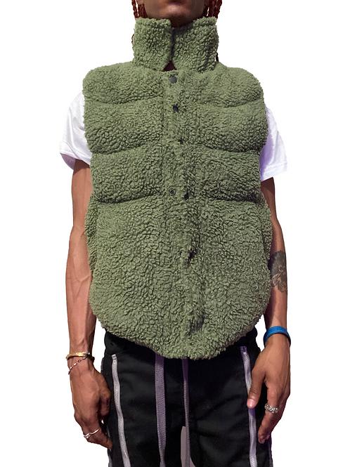 Green Sherpa Vest
