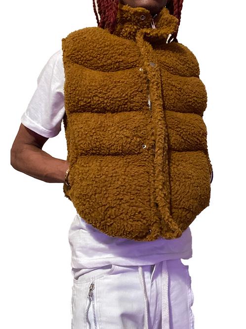 Brown Sherpa Vest
