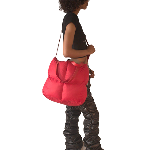 Red Puffer Tote Bag