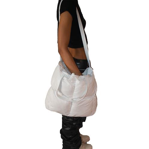 White Puffer Tote Bag