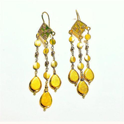 18k Chandelier Earrings