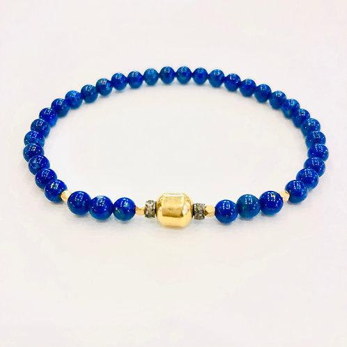 18k Gold, Diamonds and Lapis