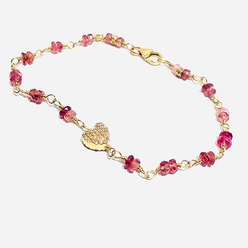Heart tourmaline bracelet