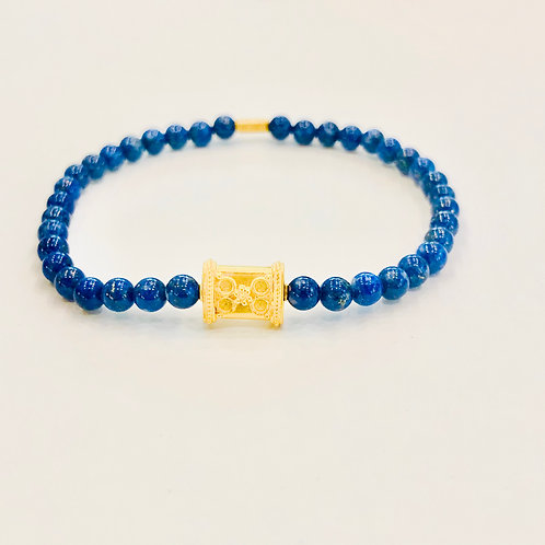 18k Gold and Lapis
