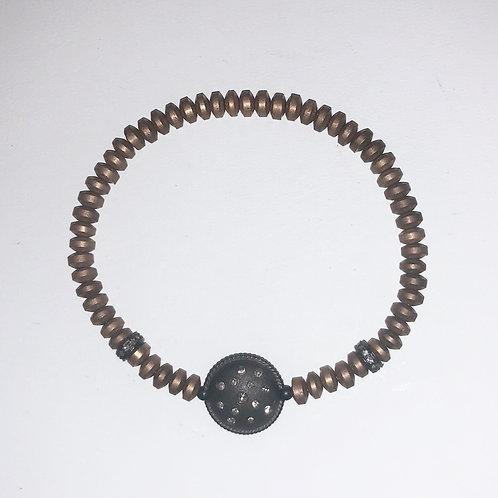 Oxidized Silver, Diamonds, Hem.