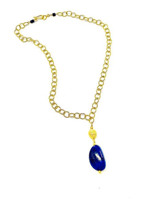 18k Lapis Necklace