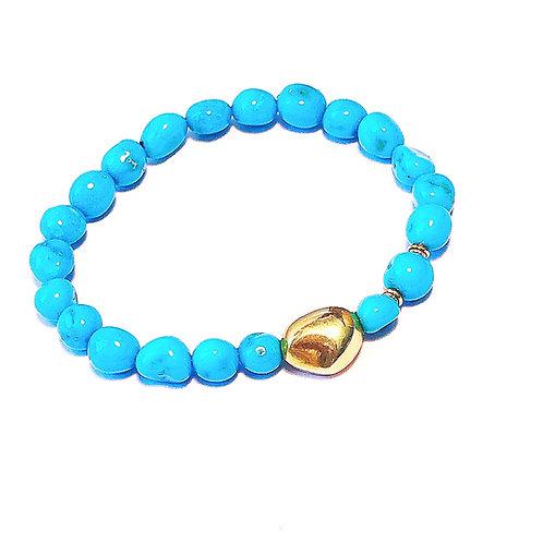 18k nugget Turquoise Bracelet