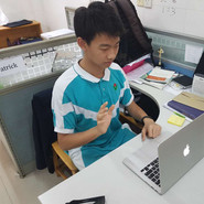 Image of student on IELTS Tutroing session