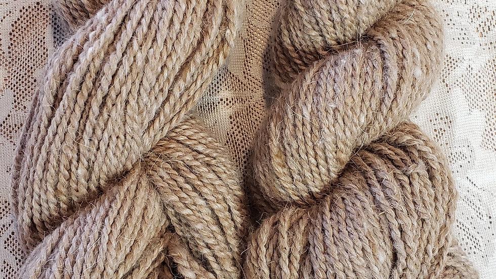 Milk Chocolate yarn, worsted 2 ply