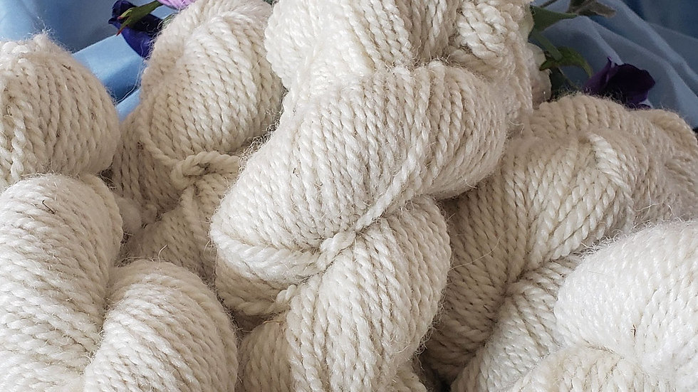 Worsted white 3 ply