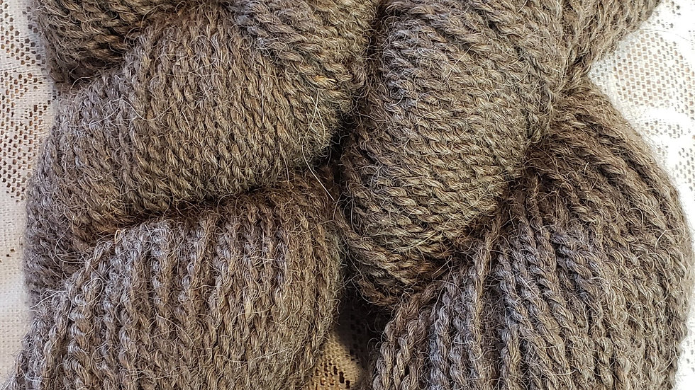 Dark Chocolate brown, worsted 2 ply