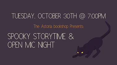Spooky Storytime & Open Mic Night