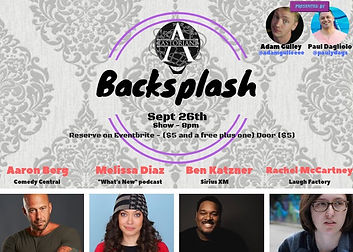 Backsplash Comedy Show