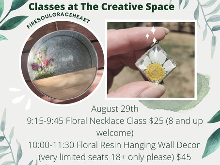 Two New Fire Soul Grace Heart Classes at The Creative Space