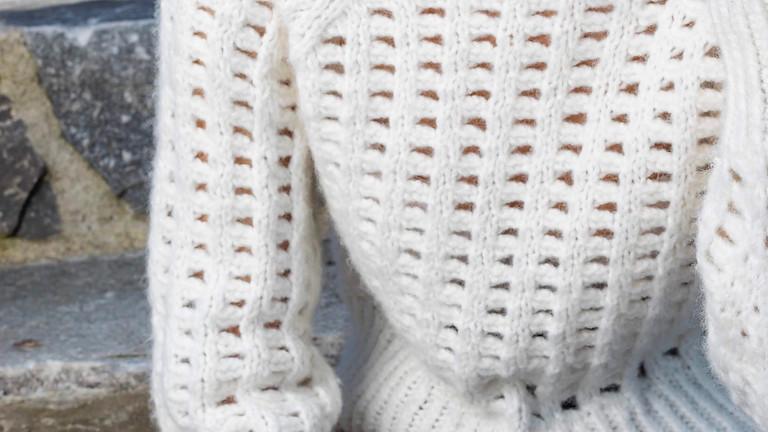 Hullstrikk – 3 måter å strikke enkel hullstrikk - Tove Lindtein