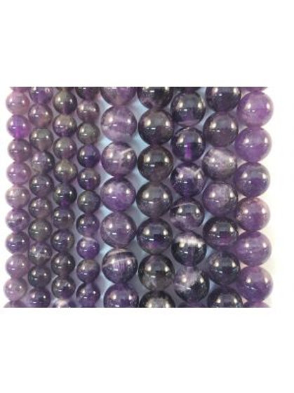 Natural Amethyst Beads 10mm