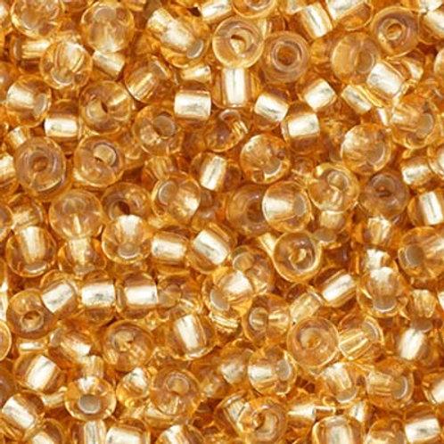 Czech Seed Beads  11/0 LT. Gold S/L