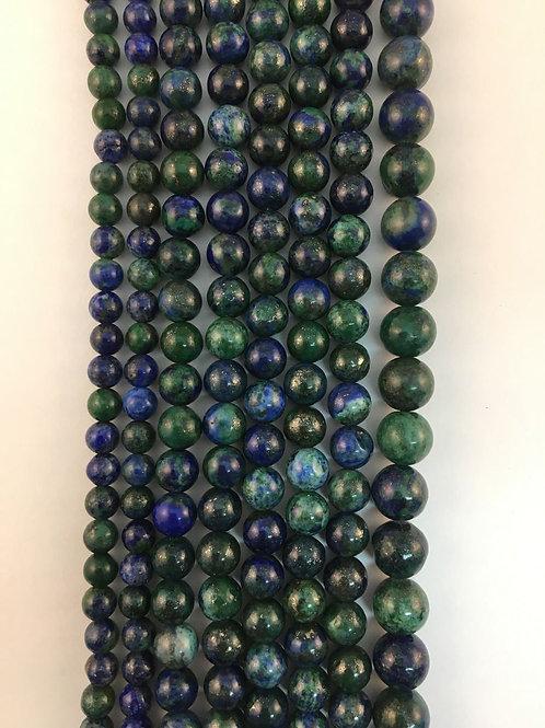 Natural Azurite Malachite Beads 8mm