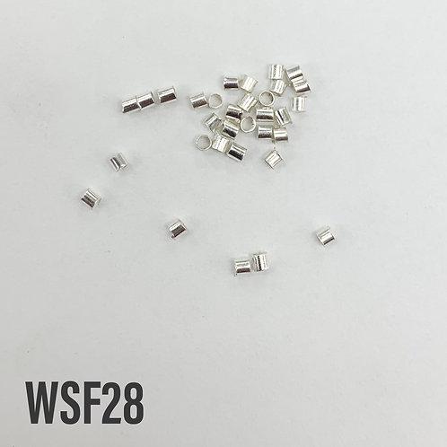 2mm Bright Silver Tube Crimp