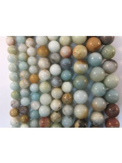 Natural Amazonite Beads 8mm