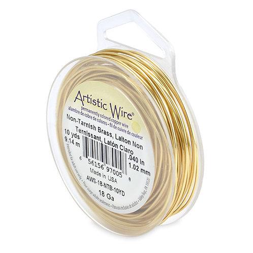 Non-Tar Brass Wire 18g 10yds