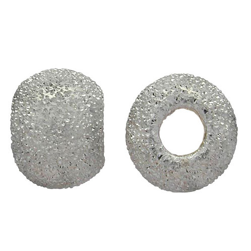 925 Dusted Laser Ball Bead 4mm