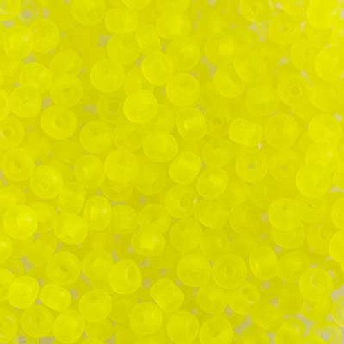 Czech Seed Beads 6/0 TR. Neon Yellow