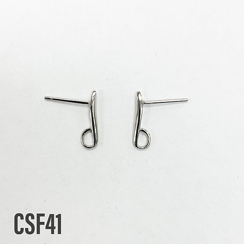 925 Earring Post With 3.5mm x 2mm Loop Sold In Pairs