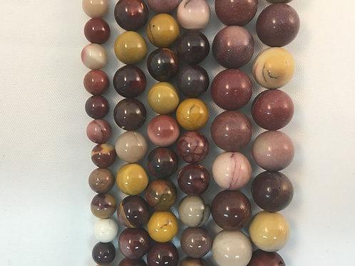 Natural Mookite Beads 8mm