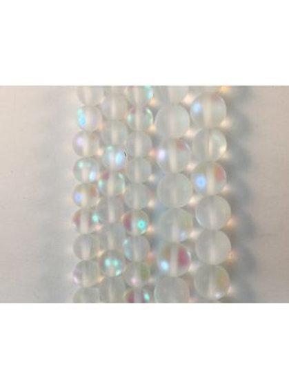 Matte Moon Light QZ (Man-Made) Beads 8mm
