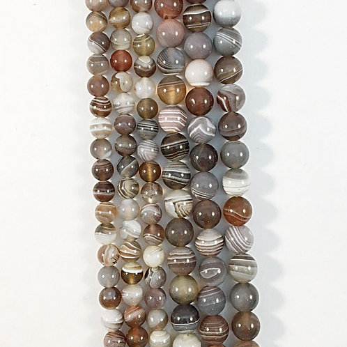 Natural Botswanna Agate Beads 6mm