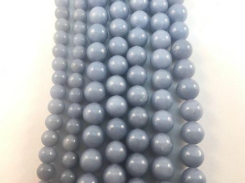 Natural Angelite (Celestite) Beads 6mm