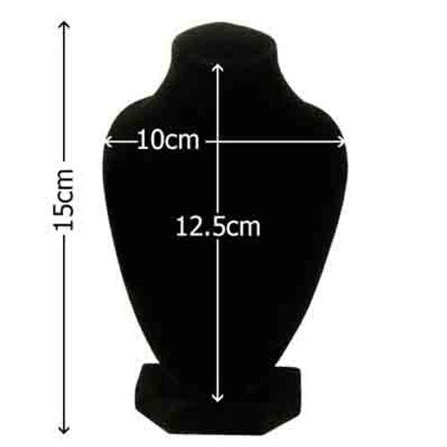 Necklace Display Black Velvet 15cm