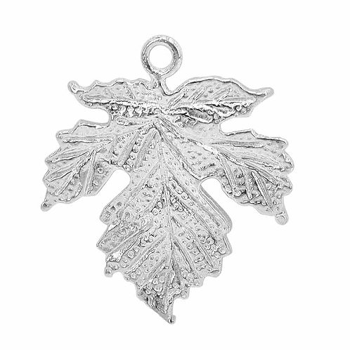 925 Maple Leafe Charm