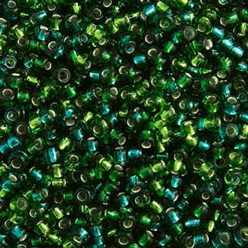 Czech Seed Beads  10/0 SEAGREEN MIX S/L
