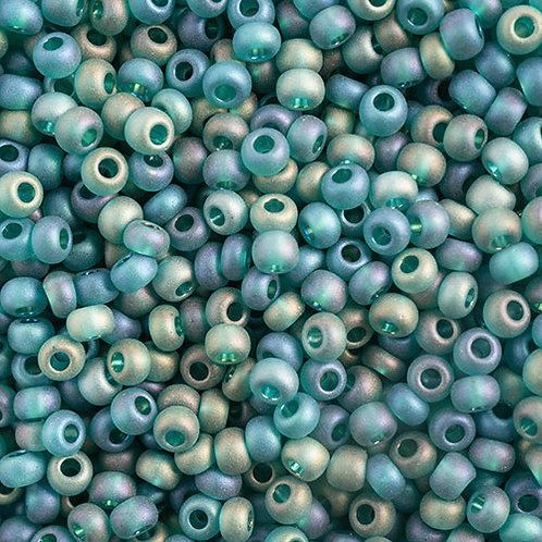 Czech Seed Beads  10/0 DK.GREEN TR.MATT AB
