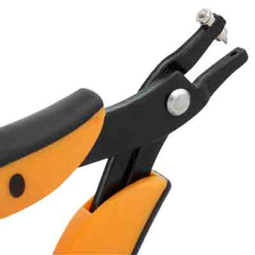 Metal Complex Plier Hole Punch w/1 Extra Pin Set Oval 1.7mm