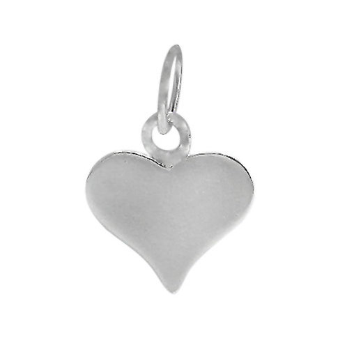 925 Smooth Flat Heart Shaped Charm